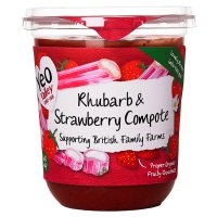 Yeo Valley Organic rhubarb & strawberry compote