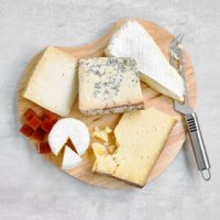 Premium Cheese Selection (With Wooden Board and Knife)