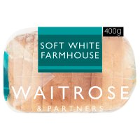 Waitrose thick sliced soft white farmhouse bread