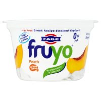 Fruyo fat free Greek yoghurt with peach