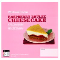 Waitrose raspberry brulee cheesecake