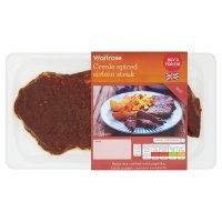 Waitrose Creole Spiced Sirloin Steak