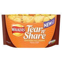 Walkers Tear'n'Share Thicker Cut Crisps Sweet Chilli