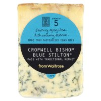 Waitrose Cropwell Bishop Blue Stilton cheese, strength 5