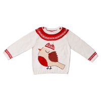 Waitrose CHRISTMAS ROBIN KNITTED JUMPER 1