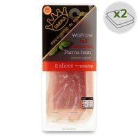 Waitrose farm assured Italian Parma ham, 2 slices