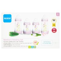 Mam Newborn Feeding Set Pink