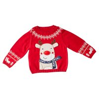 Waitrose CHRISTMAS REINDEER KNITTED JUMPE