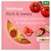 Waitrose sausage, tomato & bacon quiche