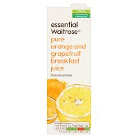 essential Waitrose pure orange & grapefruit juice