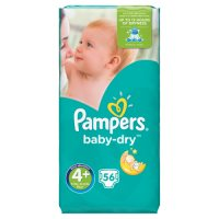 Pampers Baby Dry Size 4 Large 56 Nappies