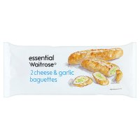 essential Waitrose 2 x Cheese & Garlic Baguettes