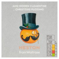 Heston from Waitrose hidden clementine Christmas pudding