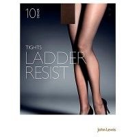 John Lewis Ladder Resistant Nude Tights - 10 Denier - Large