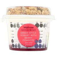 Waitrose Good To Go berry layered Greek style yogurt granola