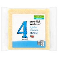 essential Waitrose reduced fat 4 lighter mature cheese