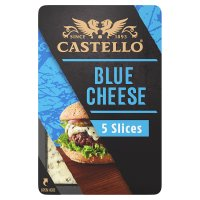 Castello burger blue 5 blue cheese slices