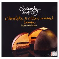 Waitrose Seriously Chocolatey chocolate & salted caramel bombe