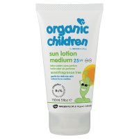 Organic children sun lotion SPF25