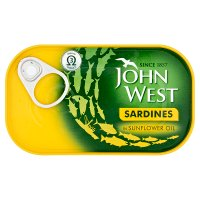 John West sardines in sunflower oil