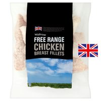 Waitrose Frozen British Free Range chicken breast fillets
