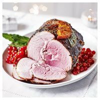 Port infused dry cure gammon with christmas spice