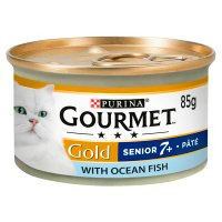 GOURMET Gold Senior Cat Pate Ocean Fish Wet Food Can