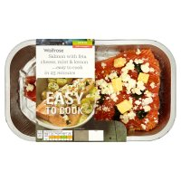 Waitrose Easy To Cook salmon, feta cheese, mint & lemon