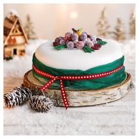 Marzipan Frosted Fruit Cake