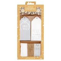 Waitrose Christmas White Gift Tag set