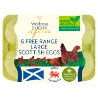 Waitrose Duchy Organic 6 large Scottish free range eggs