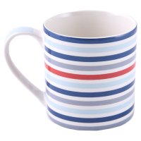 Waitrose fine china blue stripe mug