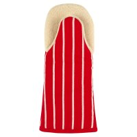 Waitrose Cooking red butchers stripe oven mitt