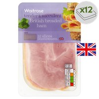 Waitrose British breaded ham 12 slices