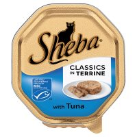 Sheba classics in terrine tuna foil tray cat food