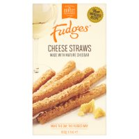 Fudges cheese straws with mature cheddar