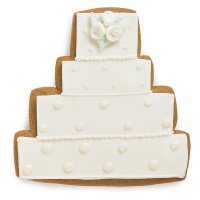 Fiona Cairns Wedding Cake Biscuits (Ivory)