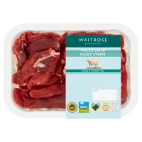 Waitrose Welsh lamb stir fry fillet strips