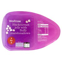 Waitrose Blackcurrant jelly with fluffy marshmallows
