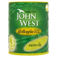 John West yellowfin tuna steak in olive oil, 3 pack