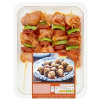 Waitrose British chicken & chorizo kebabs
