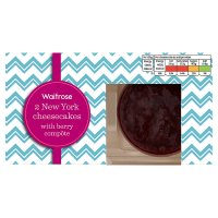 Waitrose 2 New York Cheesecakes
