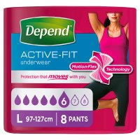 Depend Active-Fit Underwear Womens Large