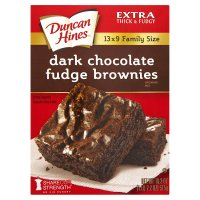 Duncan Hines brownies mix dark chocolate fudge