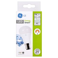 GE LED energy smart 470 lumen round 7W B22 BC