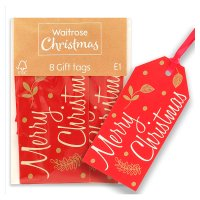 Waitrose Christmas Wishes Gift Tags