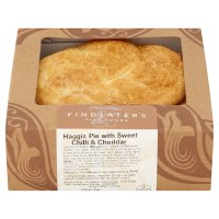 Findlater's haggis pie with chilli & Cheddar
