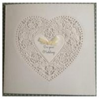Layered Heart Wedding Card