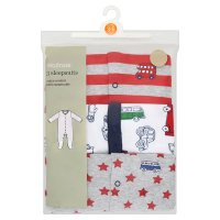 Waitrose 3 PK BOYS SLEEPSUIT - TRAVELLER