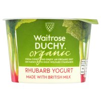 Duchy Originals from Waitrose organic rhubarb yoghurt